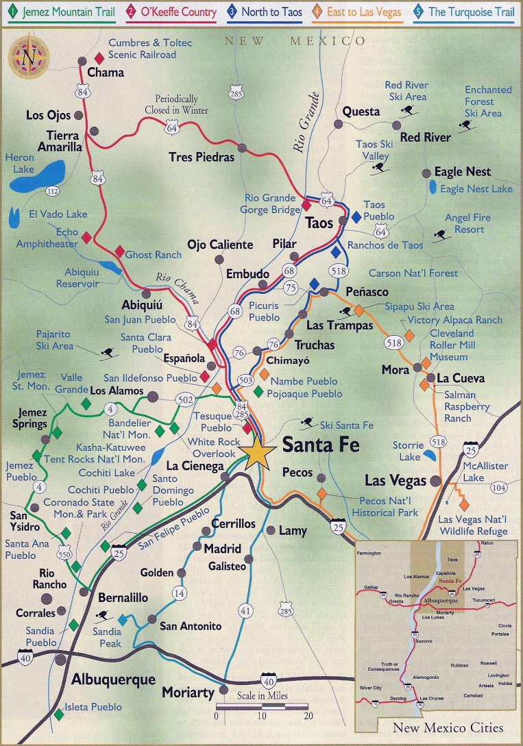 North New Mexico Map.Map Of North Central New Mexico