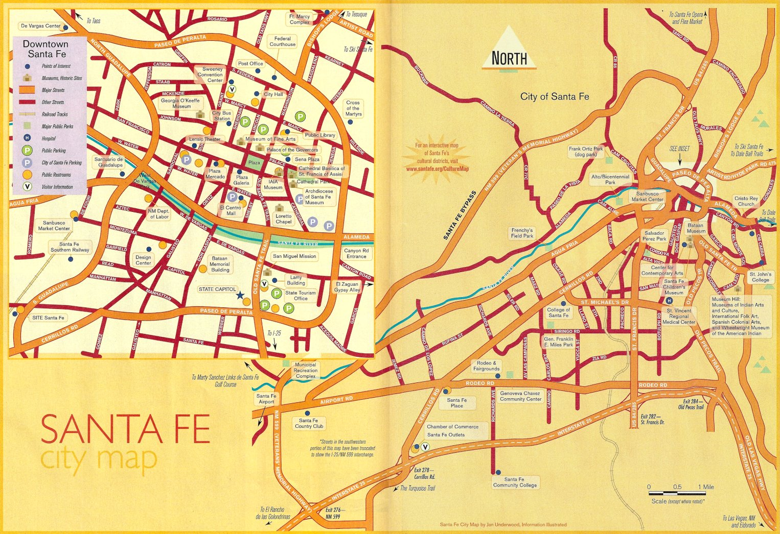 Santa Fe New Mexico Map