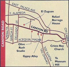 Santa Fe City and Northern New Mexico Maps
