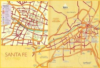 Santa Fe City and Northern New Mexico Maps